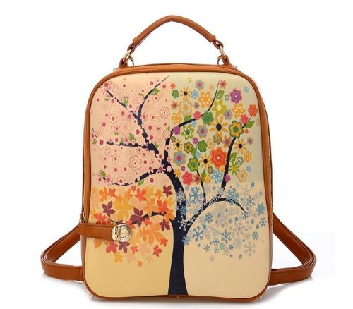 CM Star Fashion Backpack - Four Seasons Oil Painting