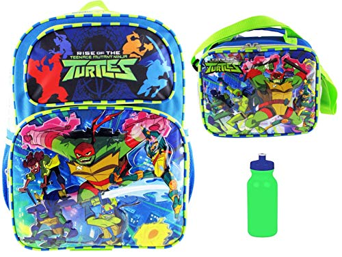 Teenage Mutant Ninja Turtles Backpack & Matching Insulated Lunch Tote PLUS 20 oz Bottle