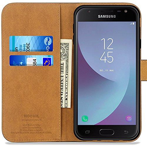 ba7b11edc5d Funda Samsung Galaxy J7 2017, HOOMIL Cuero Premium Fundas para Samsung  Galaxy J7 2017 Carcasa