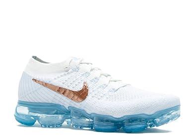 info for ec2b6 2ba47 Women s Nike Air VaporMax Flyknit Running Shoe Summit White Hydrogen Blue  849557 104 size 7