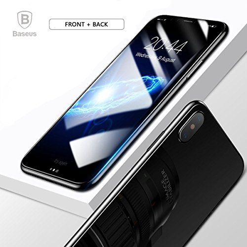 Price comparison product image iPhone x Screen Protector Tempered Glass Front And Back, Matacull High Definition Transparent 9H Toughened Glass Film For Apple iPhone X (CLEAR)