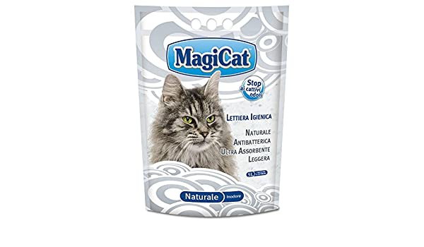 MAGIC CAT aseo naturales de arena para gatos lt.5 - Arena de gatos: Amazon.es: Hogar
