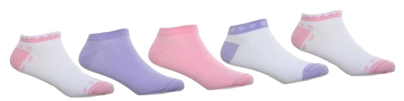 5 pairs of New Girls Trainer socks Age 3-5 Years W Brewin