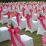 50PCS 17X275CM Satin Chair Bow Sash Wedding