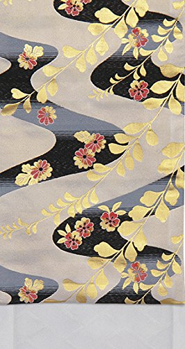 気怠いまともな慈悲深い踊り衣裳 袋帯仕立付 面印 ベージュ?金×黒×赤 レディース