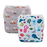 ALVABABY Swim Diapers Boys & Girls Reusable