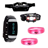 Everlast Running Athletic Training 5 Pc Visibility Bundle with TR7 Wireless Activity Heart Rate Monitor