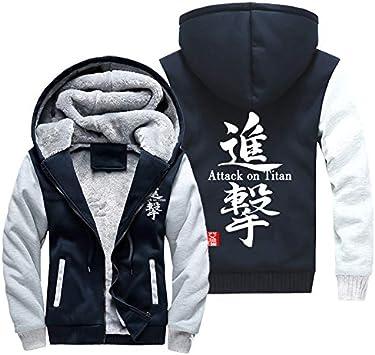 メンズフーディーフルジッパープリントアタックジャイアントベルベットパッド入りフード付きセーターコートフリースフーディー、冬に最適