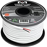 Amazon speaker cables electronics mediabridge 14awg 2 conductor speaker wire 100 feet white 999 greentooth Choice Image