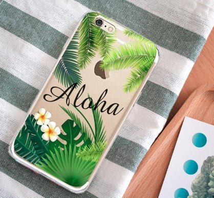 Shark Summer Collection Tropical ALOHA Hawaii Travel TPU case For (Iphone 7 Plus/Iphone 8 PLUS-Palm) Photo #4