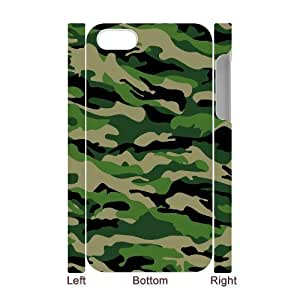 Camouflage Pattern 3D-Printed ZLB561041 Customized 3D Phone Case for Iphone 4,4S
