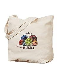 CafePress - My Ball Sack - Natural Canvas Tote Bag, Cloth Shopping Bag