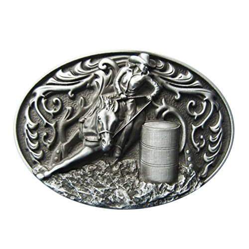 New Vintage Oval Cowgirl Rodeo Raceing Western Belt Buckle Gurtelschnalle (Raceing Flag)