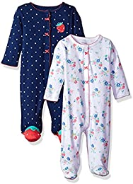 Girls 2-Pack Cotton Sleep and Play