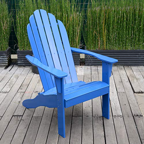 Cambridge-Casual AMZ-240252BLU Bentley Adirondack Chair, Blue