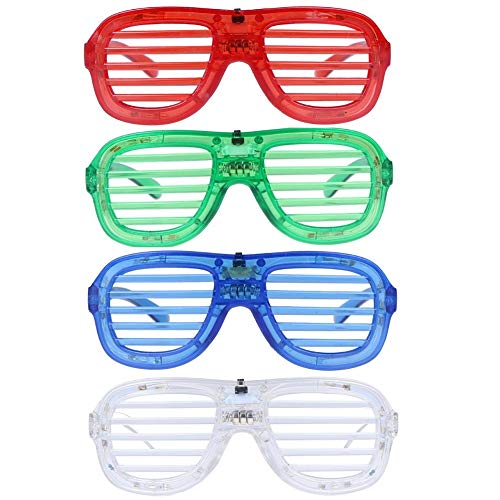 M.best Unisex Fashion Plastic Glow LED Light Up Shades Glasses for Christmas Halloween Wild Clubbing Birthday Party