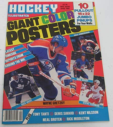 (Hockey Illustrated April 1985, Wayne Gretzky Cover. 143185)