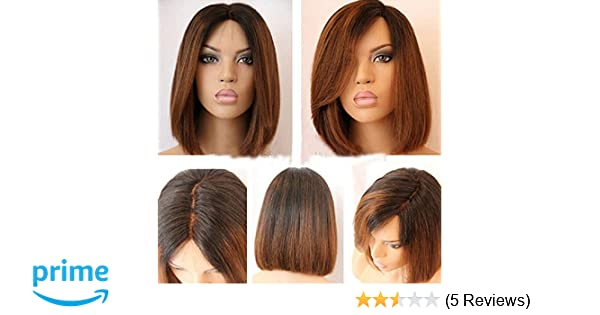 Full Lace Wig Straight Human Hair Glueless