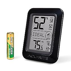 AcuRite 01130M Digital Hygrometer & Thermometer, Black