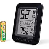AcuRite 01130M Digital Hygrometer and Thermometer, Black