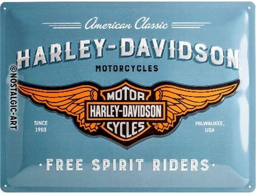 Nostalgic-Art 23244, Harley Davidson - Logo Blue, Cartel de ...