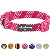 Blueberry Pet 10 Patterns Artisan Crochet Inspired Endless Squares Dog Collar, Virtual Pink, Large, Neck 18''-26'', Adjustable Collars for Dogs