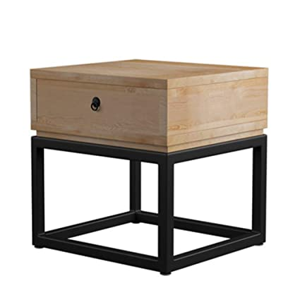 Remarkable Amazon Com Sturdy Bedside Table Solid Wood Iron Art Small Alphanode Cool Chair Designs And Ideas Alphanodeonline