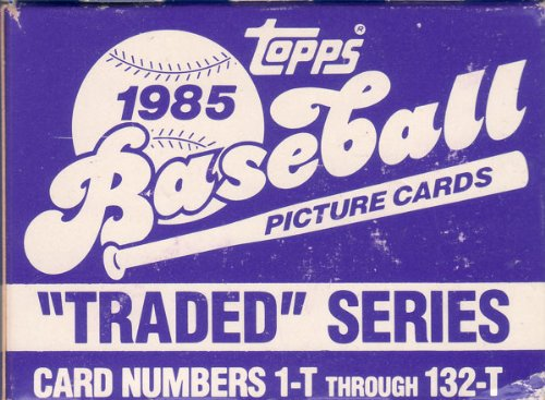 Traded Topps Factory - 1985 Topps Traded Baseball Series Complete Mint 132 Card in the Original Factory Set Box. Featuring the Rookie Card of Ozzie Guillen Plus Rickey Henderson, Billy Martin, Dusty Baker, Fred Lynn and Others.