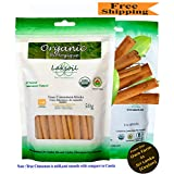 Certified Organic 50g/1.78oz Ceylon Ceylon/True Cinnamon Premium Grade Sticks