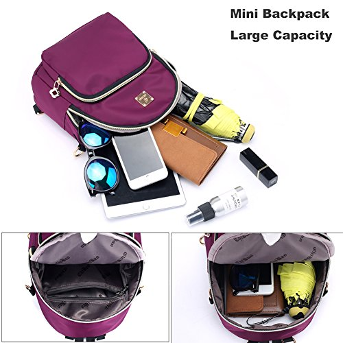 Mini 1 Winered Small Multifunctional Women Cross Body Nylon Backpack Backpack for Waterproof Purse Hozee Bag 6SwrqO6