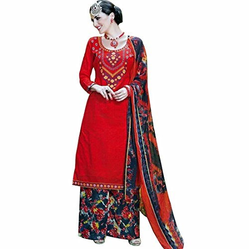 Ready To Wear Cotton Embroidered Salwar Kameez Palazzo Pants Indian