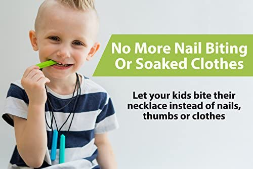 Biting Tilcare Chew Chew Pencil Sensory Teether Necklace Set Best for Autism
