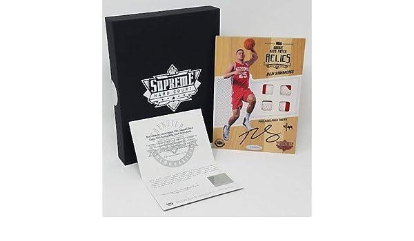 264b18d17 Amazon.com  BEN SIMMONS Autographed Supreme Hard Court Rookie Quad Jersey  Patch UDA LE 4 99  Sports Collectibles