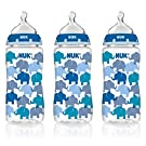NUK Hot Air Balloons Orthodontic Medium Flow Bottle 3pk 10oz, Newborn+