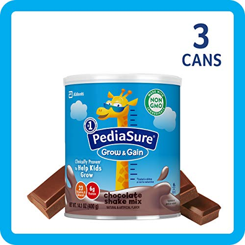 - PediaSure Grow & Gain Chocolate Shake Mix, Nutrition Shake for Kids, 14.1 oz, 3 count