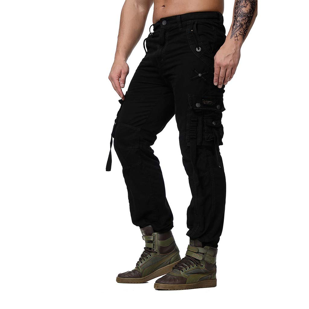 Fashion Mens Regular Fit Pants Cargo Pants Casual Trousers Work Pants Palarn Casual Athletic Cargo Pants Clothes