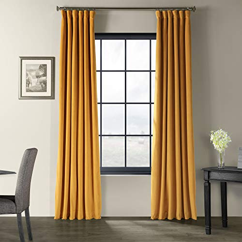 HPD Half Price Drapes VPCH-180407-108 Signature Blackout Velvet Curtain, 50 X 108, Fool's Gold
