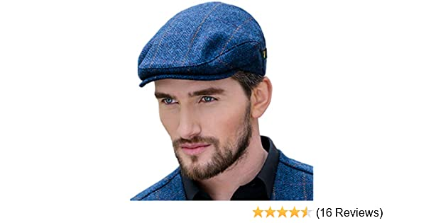 e4bd62c358f76 Mucros Weavers Men's Donegal Tweed Flat Cap - Traditional Style, Modern  Fashion Item - Blue at Amazon Men's Clothing store: