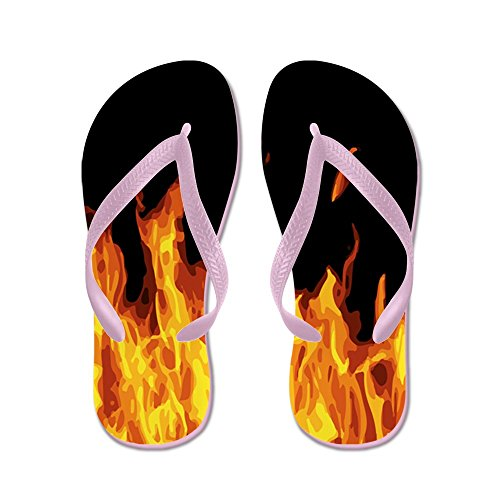 CafePress Flames - Flip Flops, Funny Thong Sandals, Beach Sandals Pink