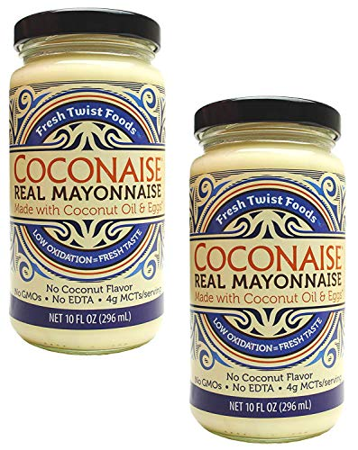 Coconaise 10oz Coconut Oil Mayonnaise (2 Jars)