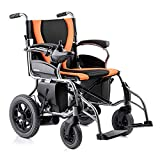 Electric Powered Wheelchair, Lightweight Portable Folding Heavy Duty Mobility Scooter,Compact Motorized Wheelchair
