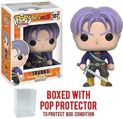 Funko Pop! Anime: Dragon Ball Z - Trunks Vinyl Figure (Bundled with Pop BOX PROTECTOR CASE) (Piccolo Funko)