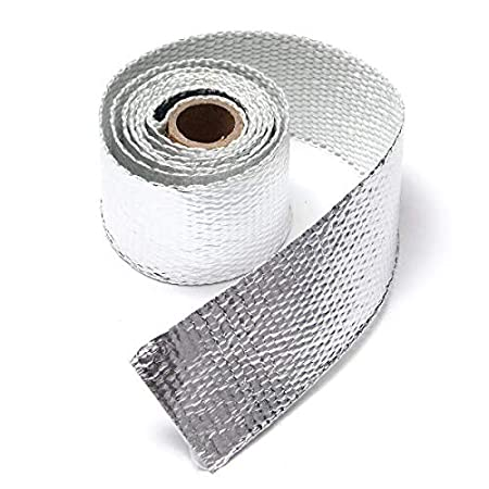 RENCALO 1.5M Exhaust Header Pipe Heat Wrap Manifold Turbo Shields Insulation Roll Tape Motorcycle-Grey