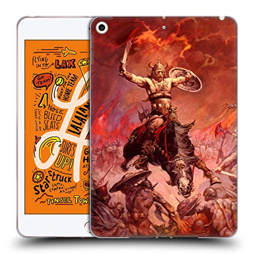 (Official Frank Frazetta The Berserker Medieval Fantasy 2 Soft Gel Case Compatible for iPad Mini (2019) )