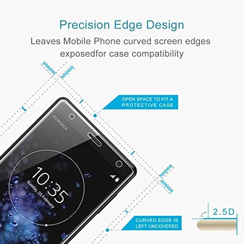 Wangl Mobile Phone Tempered Glass Film 50 PCS 0.26mm 9H 2.5D Tempered Glass Film for Sony Xperia XZ2 Premium Tempered Glass Film