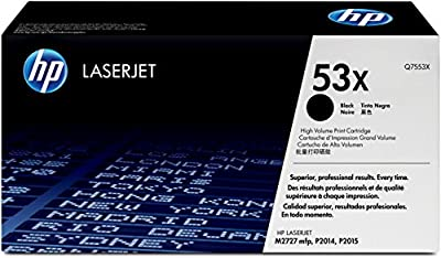 HP 53X (Q7553X) Black High Yield Original LaserJet Toner Cartridge