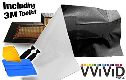 VViViD XPO Gloss Black Chevy Bowtie Logo Wrap Kit (4 Rolls (11.8