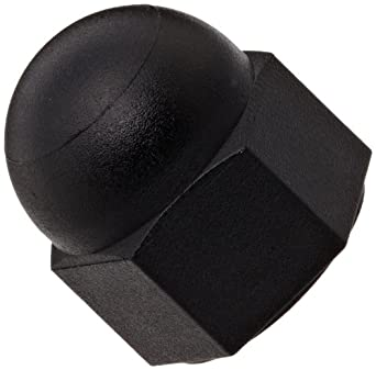 Nylon 6 6 Acorn Nut Plain Finish Black Right Hand