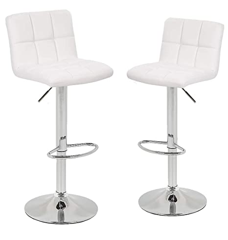 Terrific Ultimate New Bar Stools Leather Swivel Adjustable Counter Height Barstools Chair Modern Square With White Set Of 2 Forskolin Free Trial Chair Design Images Forskolin Free Trialorg