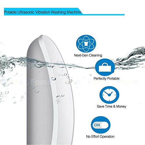 Multi-functional Portable Mouse Ultrasound Laundry Cleaning Machine for Business Trip Jewelry Fruit Glasses Vegetables Transer Mini Portable Ultrasonic Vibration Washing Machine white Clothes